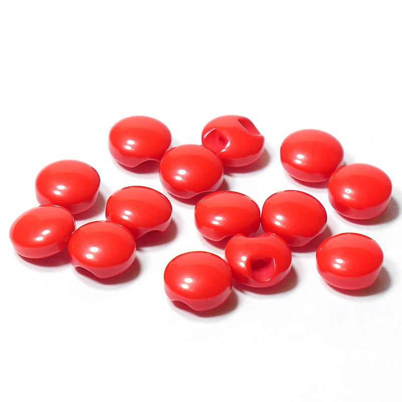 Пуговицы мини 10мм круглые пластик на ножке 14шт красный 27359