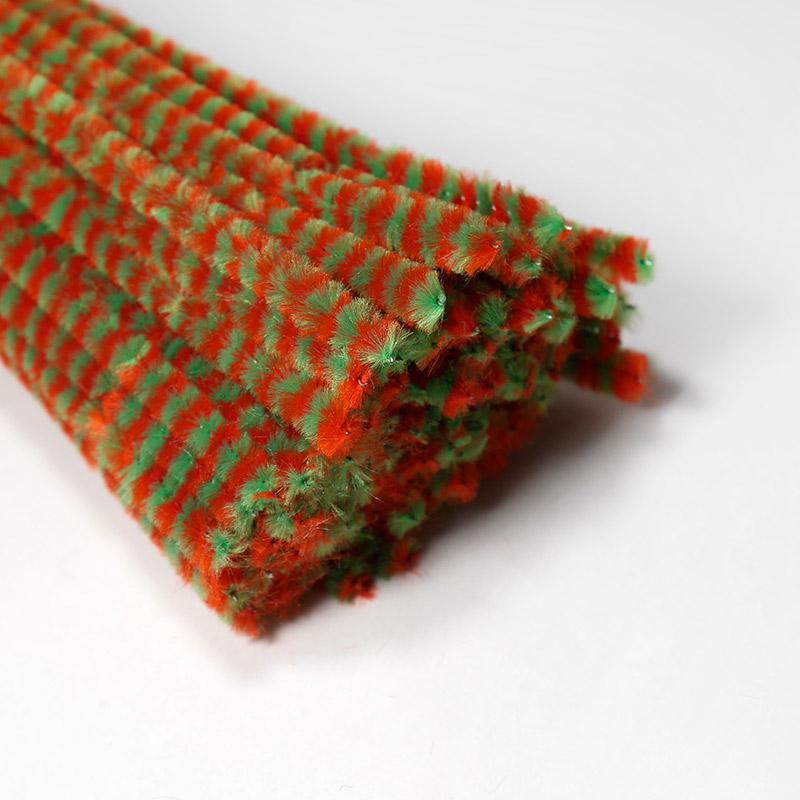 Скрутики бархатные 0,5см/30см В33 красно-зеленый