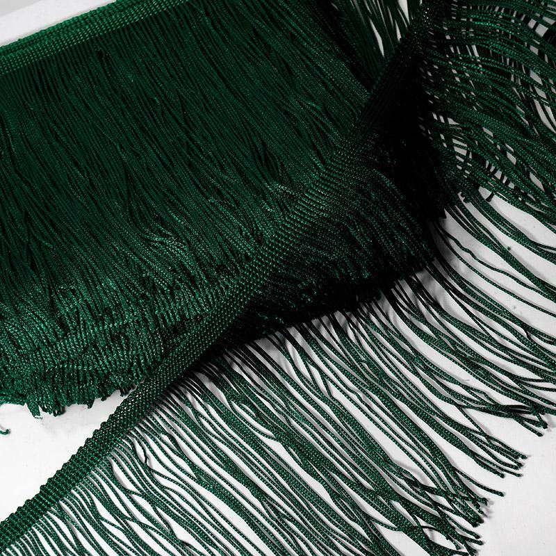 Бахрома для танцев 140мм 9м зеленый