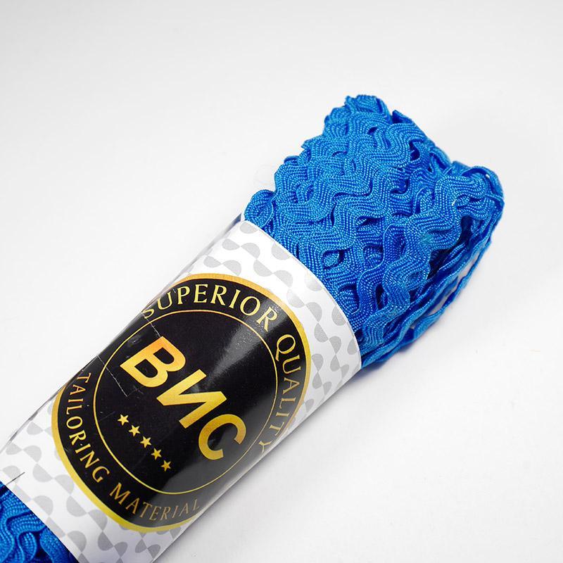 Тесьма Зиг-Заг 9345 5мм 20м т.синий