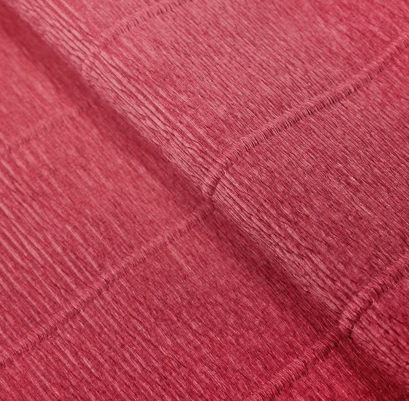 Бумага гофрированная 50см 2,5м 140г/м2 Италия 947 розовый