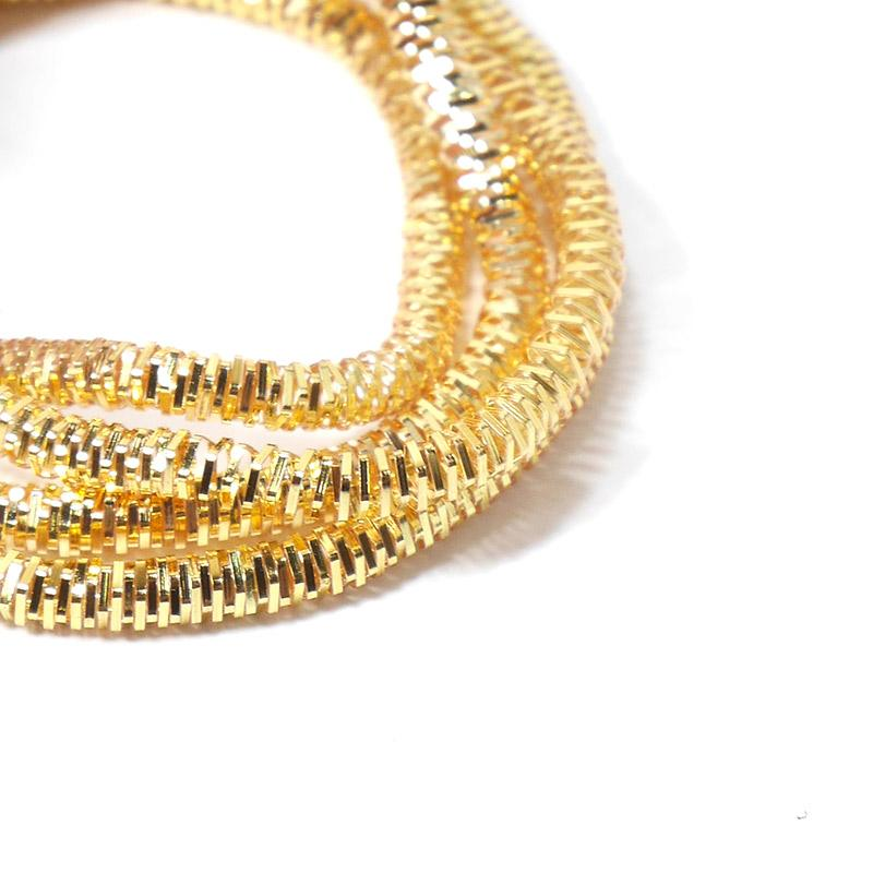 Канитель 3мм 1189EMB яркое золото трунцал 5гр