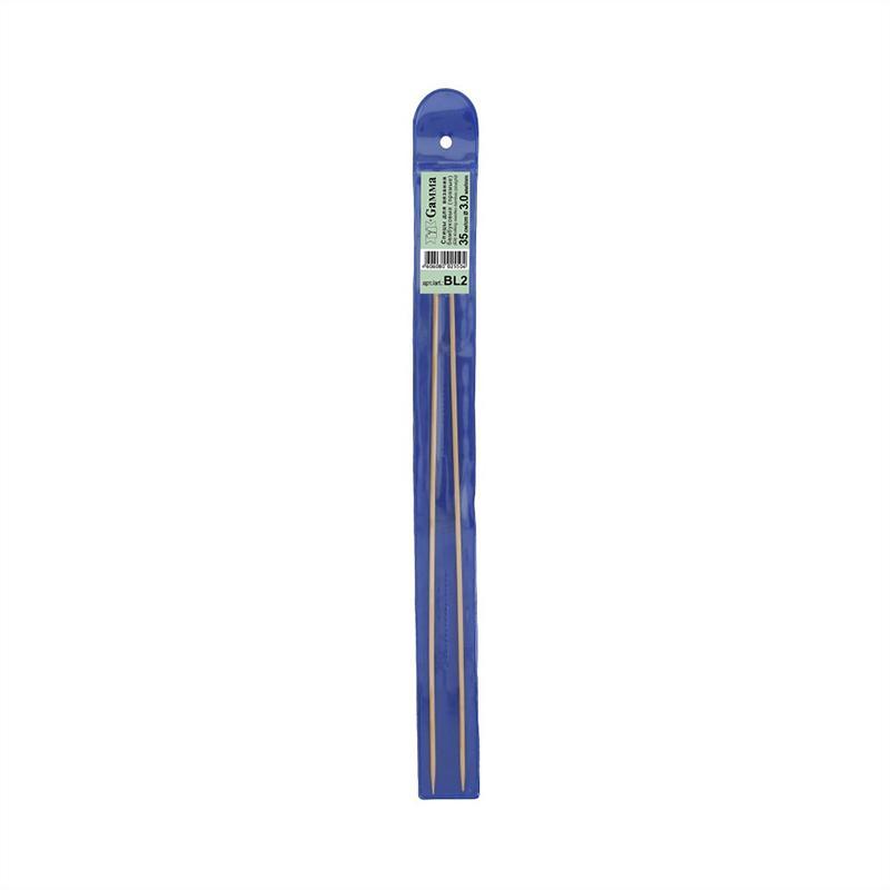 Спицы прямые бамбук 3.0мм 35см BL2