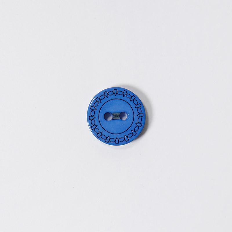 Пуговицы Рубашка L049 2 прокола 13мм синий Одеон 1шт