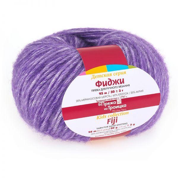 Пряжа Фиджи 8353 - фиолетовый меланж