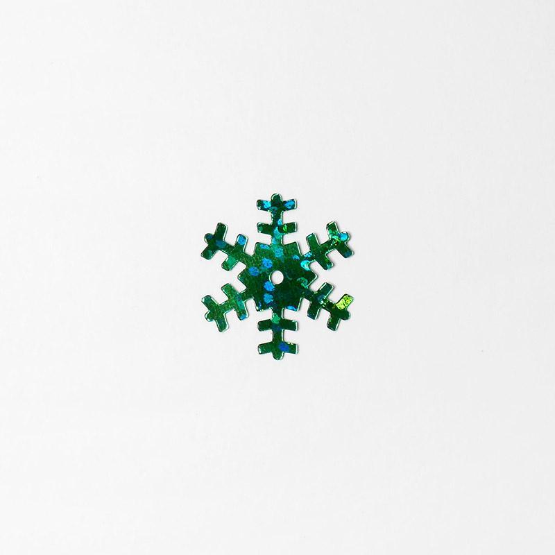 Пайетки Снежинки 1,8см 100г SF-1134 зеленый 61-207