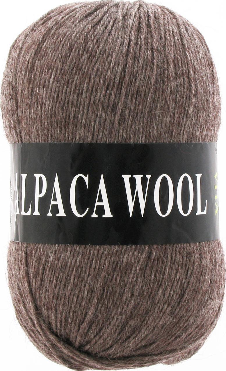Пряжа Alpaca Wool 2975 - коричневый меланж