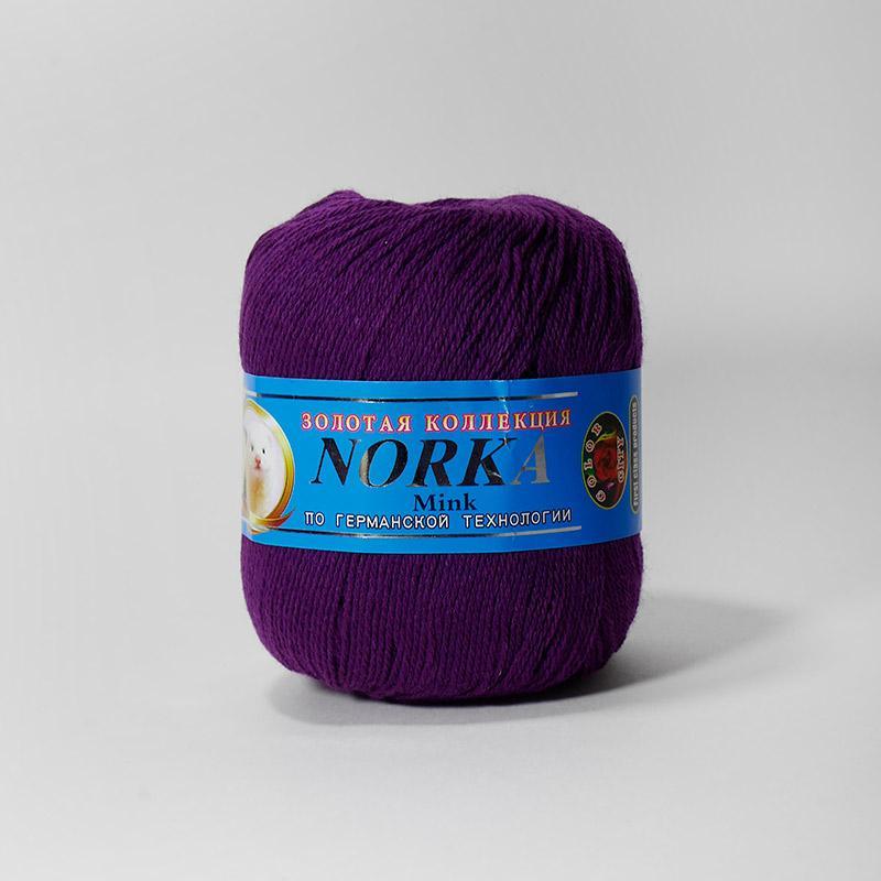 Пряжа Норка 023 - фиолетовый