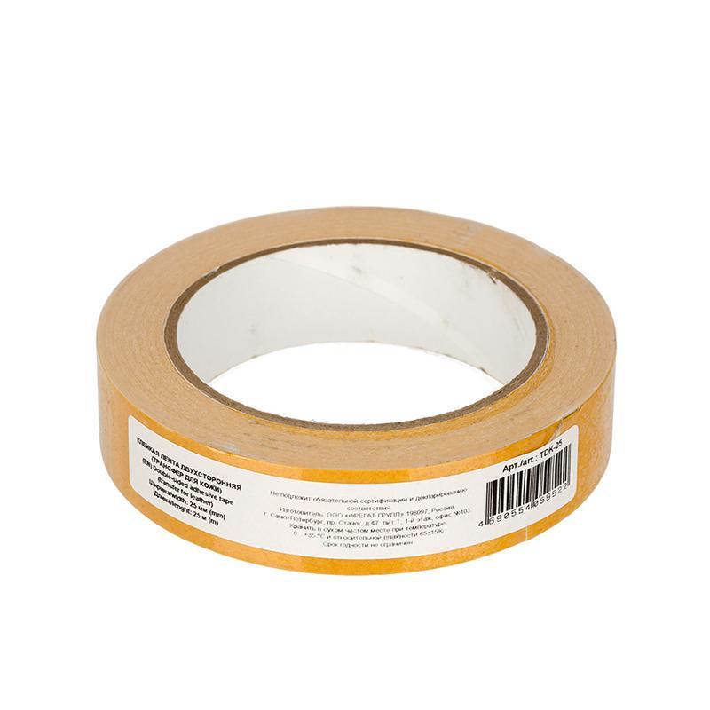 Клейкая лента двухсторонняя для кожи трансфер TDK-25 25мм 25м белый