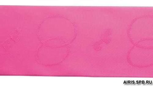 Лента атласная 60мм 20м(Н) яр. розовый