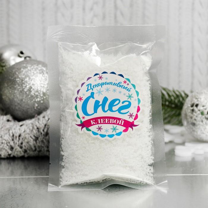 Снег искусственный клеевой для декора Лед со снегом 60г 3609133