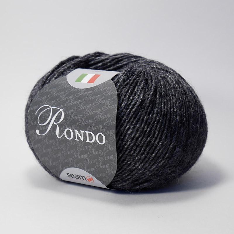 Пряжа Рондо 501 - черно-графитовый