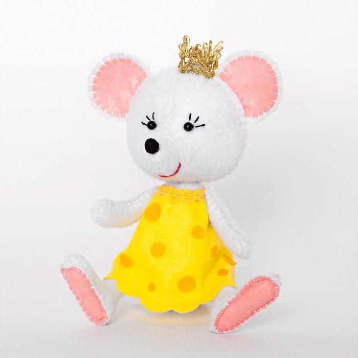 Набор для создания игрушки из фетра Принцесса-мышка 11,5см 4357453