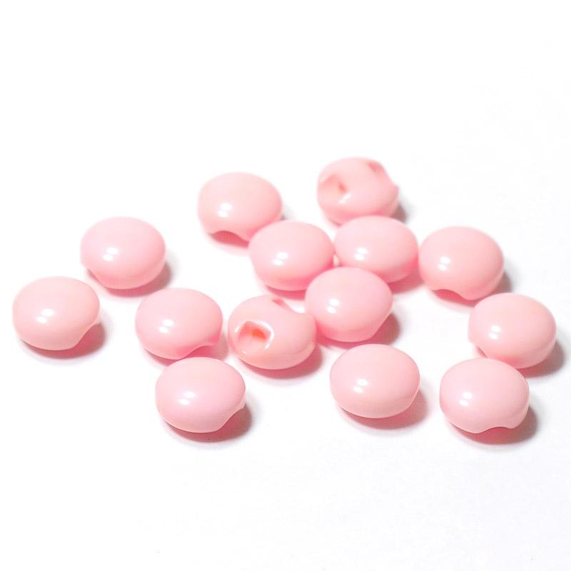 Пуговицы мини 10мм круглые пластик на ножке 14шт розовый 27357