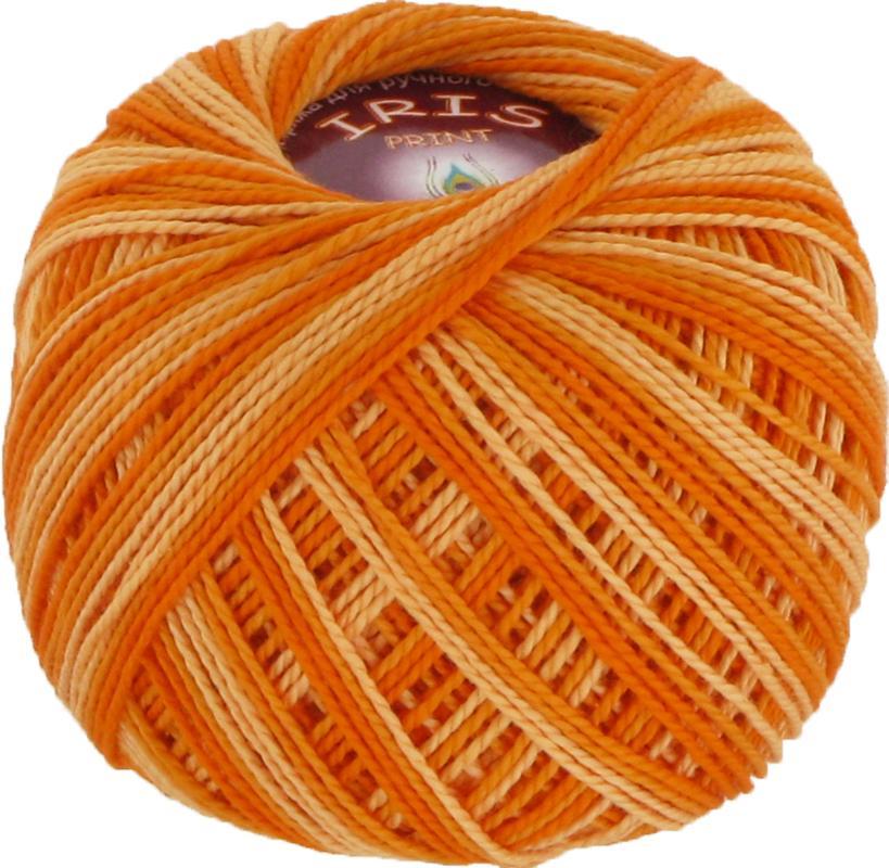 Iris print 2210 - оранжевый меланж