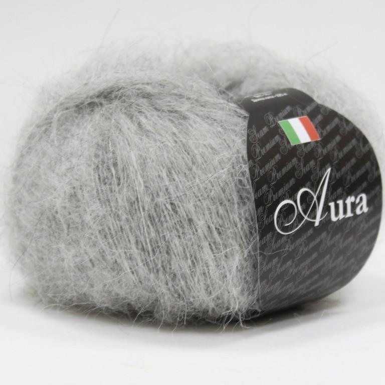 Пряжа Аура 801 - св.серый