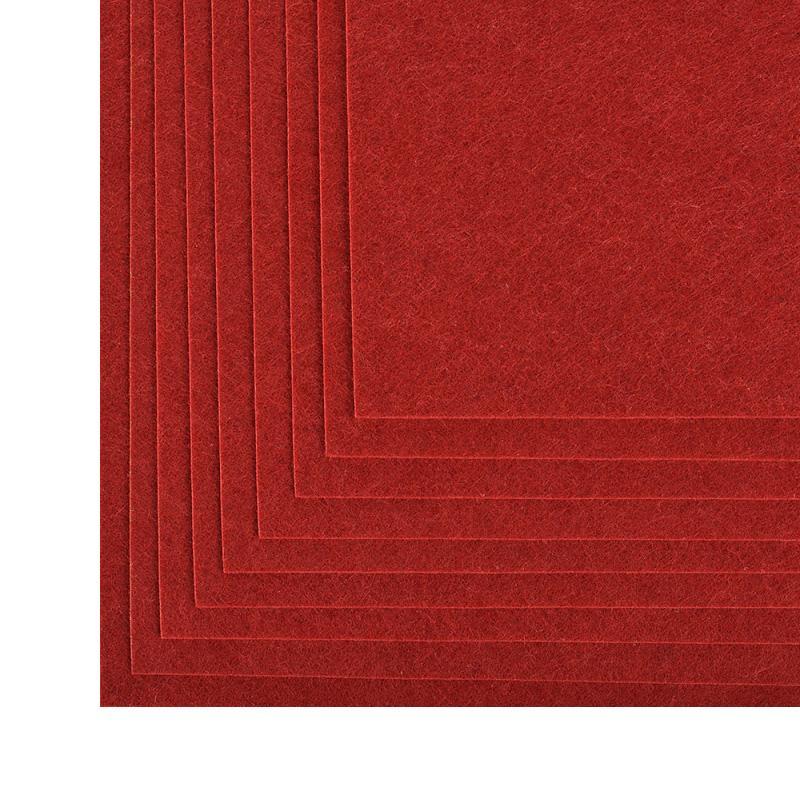 Фетр листовой жест. FLT-H1 1мм 20*30см 10шт 617 бордовый IDEAL