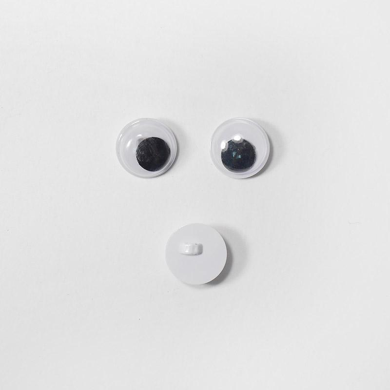 Глазки бегающ.пришивн. 12мм белый (О2)