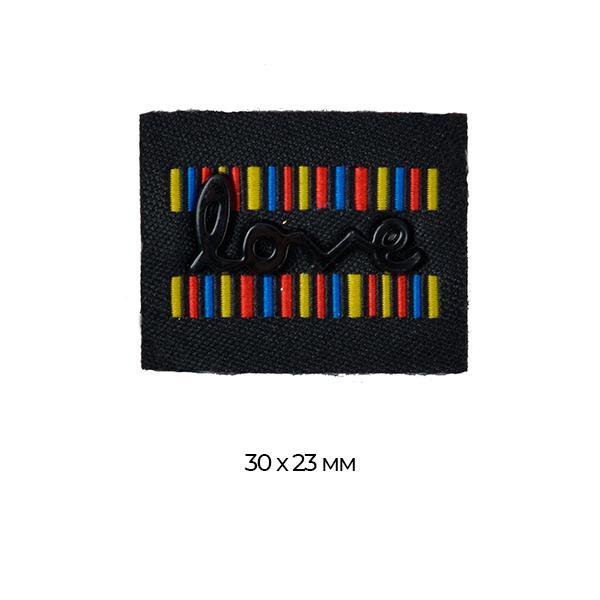 Аппликации пришив. TBY.RJ1106 Love Black 3х2.3см