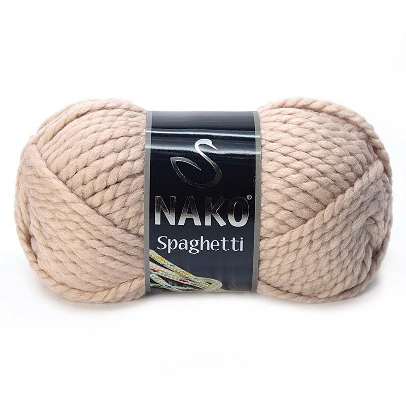 Пряжа Спагетти 10042 - светло-телесный
