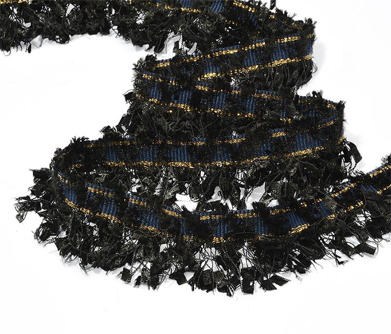 Тесьма Шанель с бахромой TBY SH01 35мм 13.71м черный