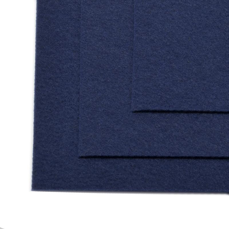 Фетр листовой жест. FLT-H1 1мм 20*30см 10шт 673 т.синий IDEAL