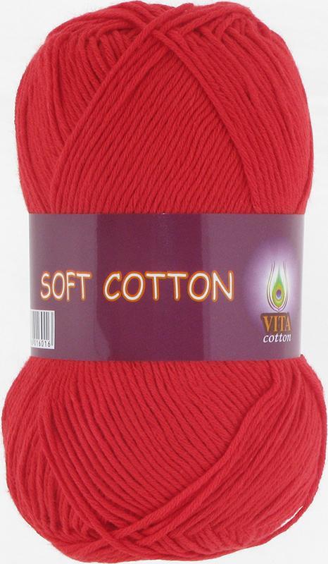 Пряжа Soft Cotton 1828 - красный