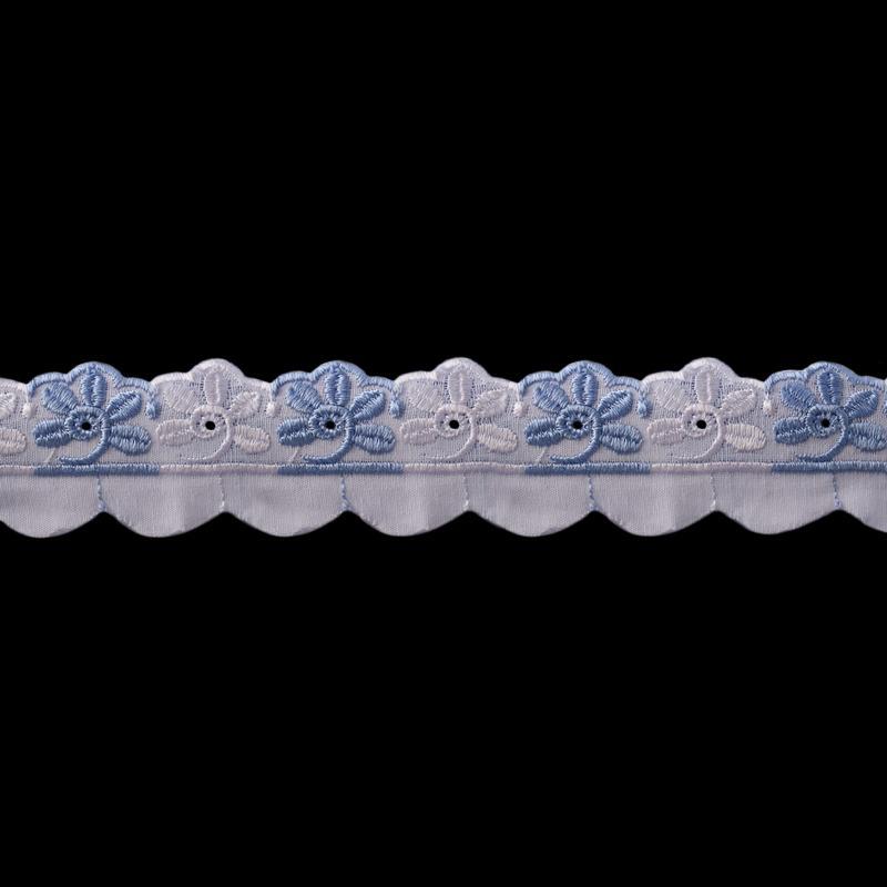 Шитье 790 35мм 8,8м бело-голубой