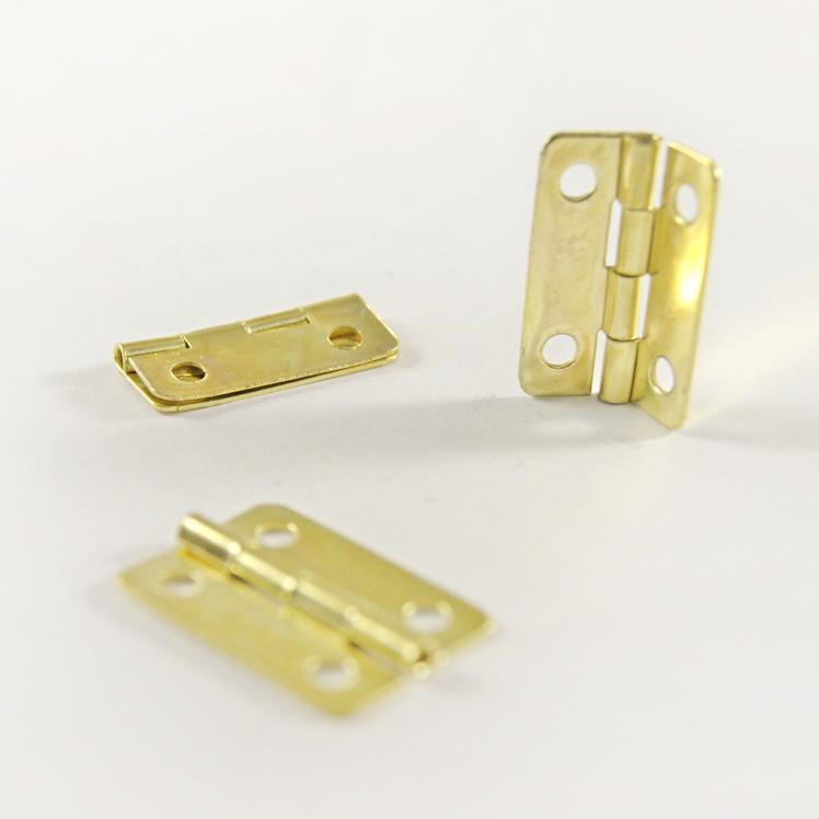 Декоративная петля для шкатулок FL-269 22х15мм 8шт золото 20580