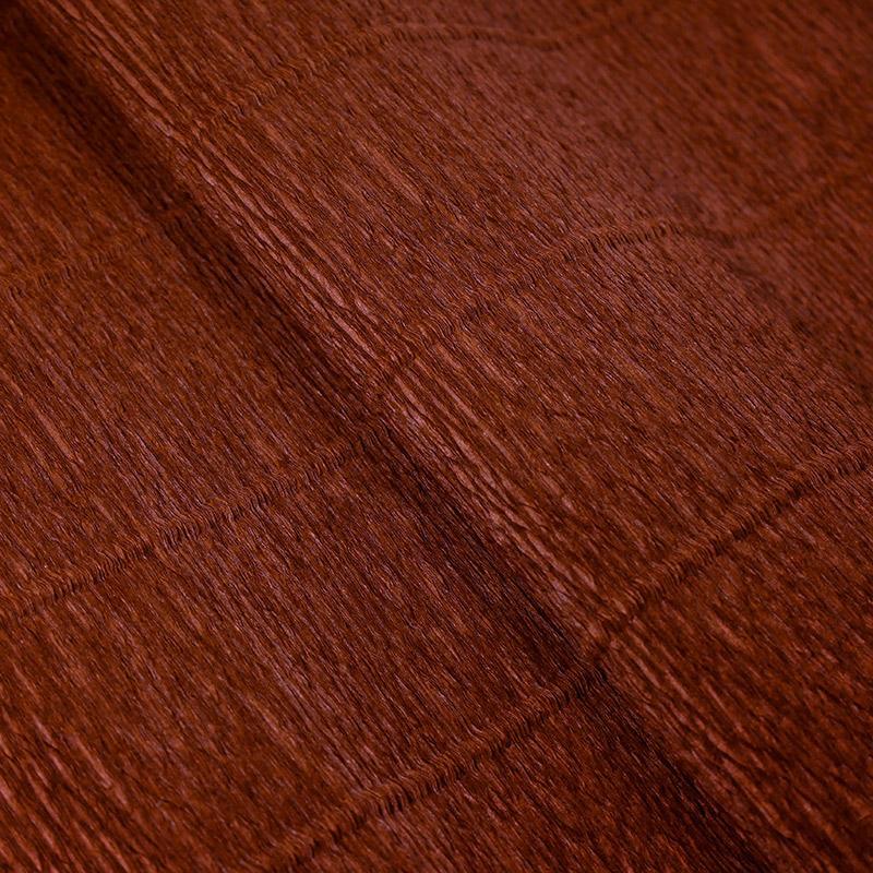 Бумага гофрированная 50см 2,5м 140г/м2 Италия 968 коричневый