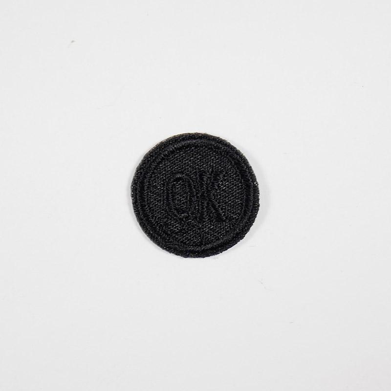 Термоаппликация ОК d 2,0см, круг арт 042, черный