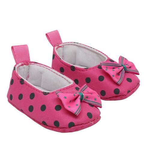 Туфли из ткани в горошек 7,8см, выс.2,5см розовый 25275