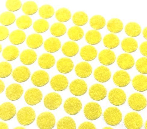 Лента контактная мини клеевая 10мм 10шт желтый 28840