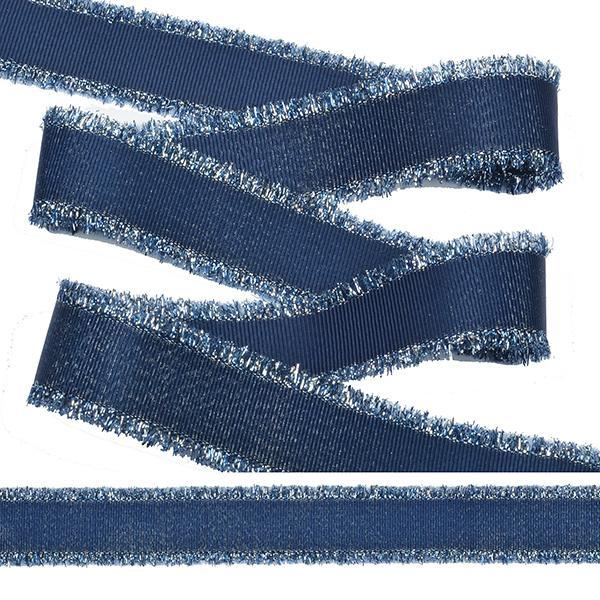 Тесьма с бахромой TBYF04 25мм 13,71м F225 синий