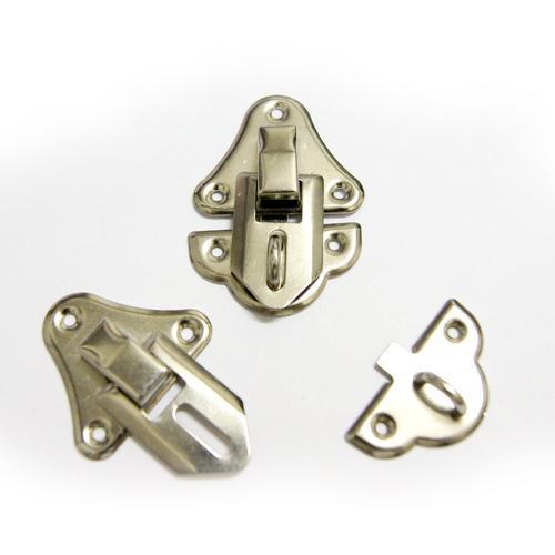 Декоративный замок для шкатулок А-006 50х33мм серебро 23550