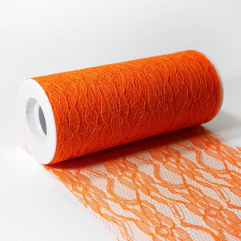 Фатин кружево-капрон 150мм 9.14м NA26 оранжевый В