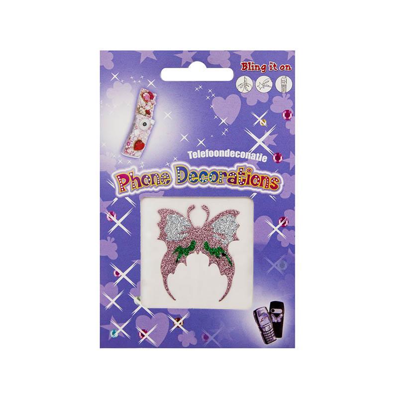 Декоративные наклейки с напылением 1013/7179 бабочка