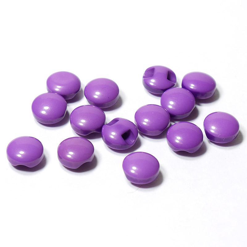Пуговицы мини 10мм круглые пластик на ножке 14шт фиолет 27358