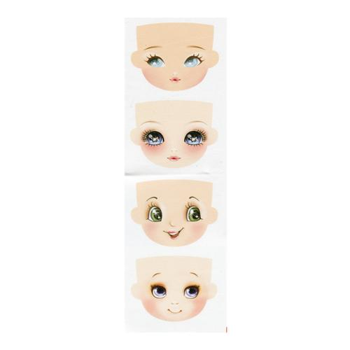 Фоамиран 100*85мм с принтом Кукольное лицо1 4шт на листе Renkalik GDVIG01 7716535