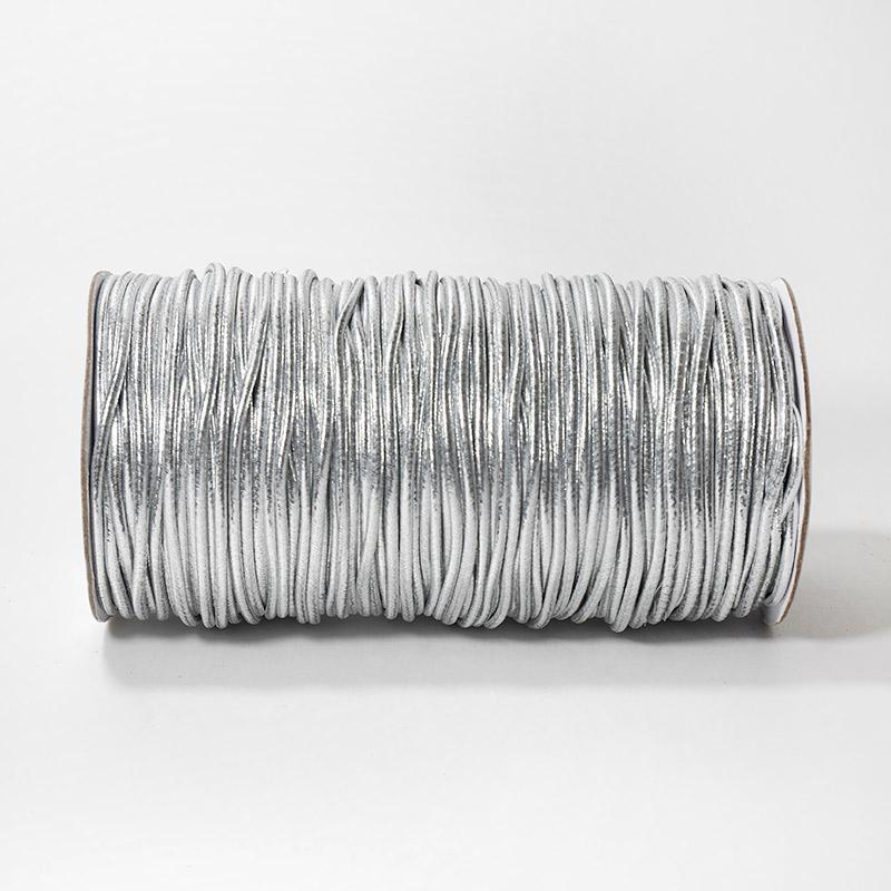 Резинка шляпная 2.5мм 100м серебро В
