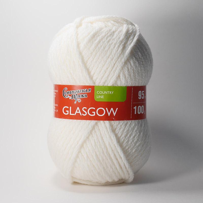 Пряжа Глазго 964 - ультра белый