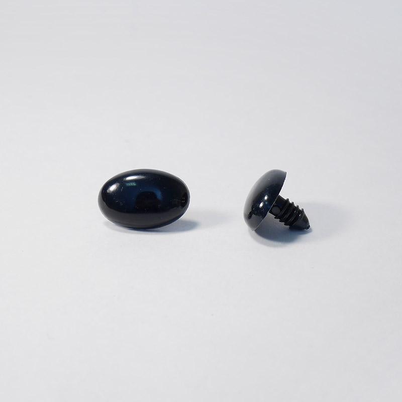 Носик винтовой Овал 22/15 черный  (О2)