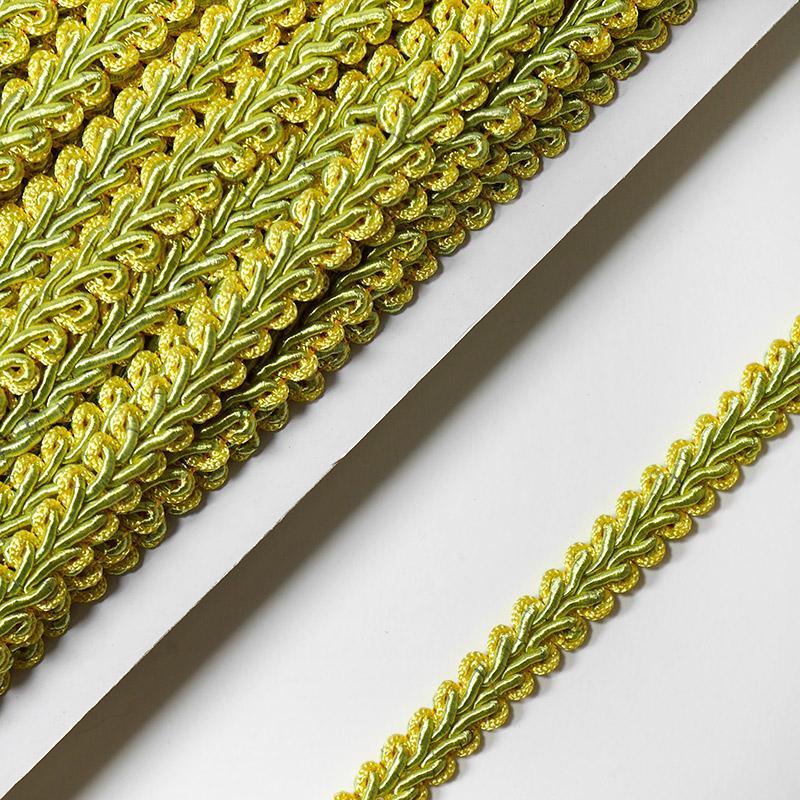 Тесьма Шанель 10мм 18,2м 022 желто-зеленый