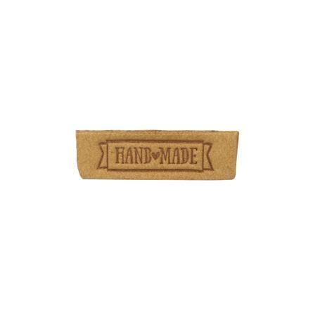 Термоаппликации Hand made 2,5х0,8см 2шт 100% кожа песочный 552167