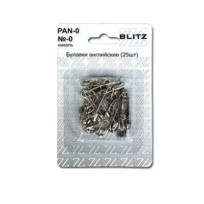 Булавки английские BLITZ №0 никель 25шт PAN-0