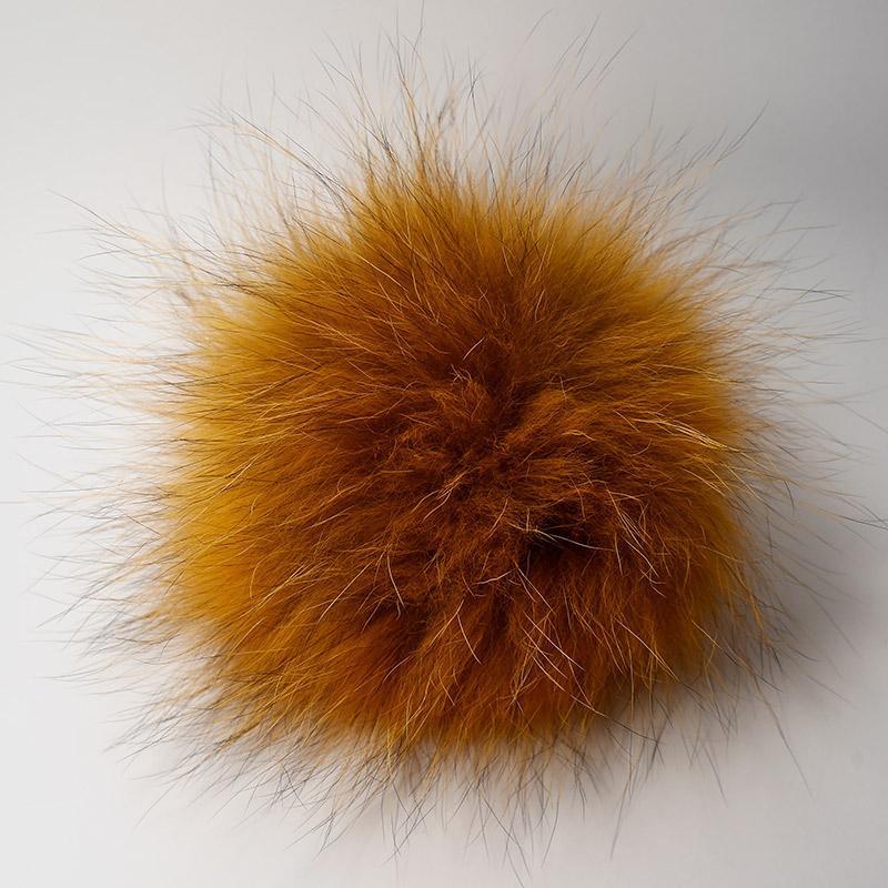 Помпон натуральный енот 15-18см рыжий
