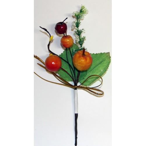 Декоративный букетик DKB046 с яблочком