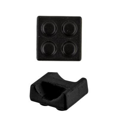 Пуговицы металлические МВ 0154 7,2мм 24шт А008 черный