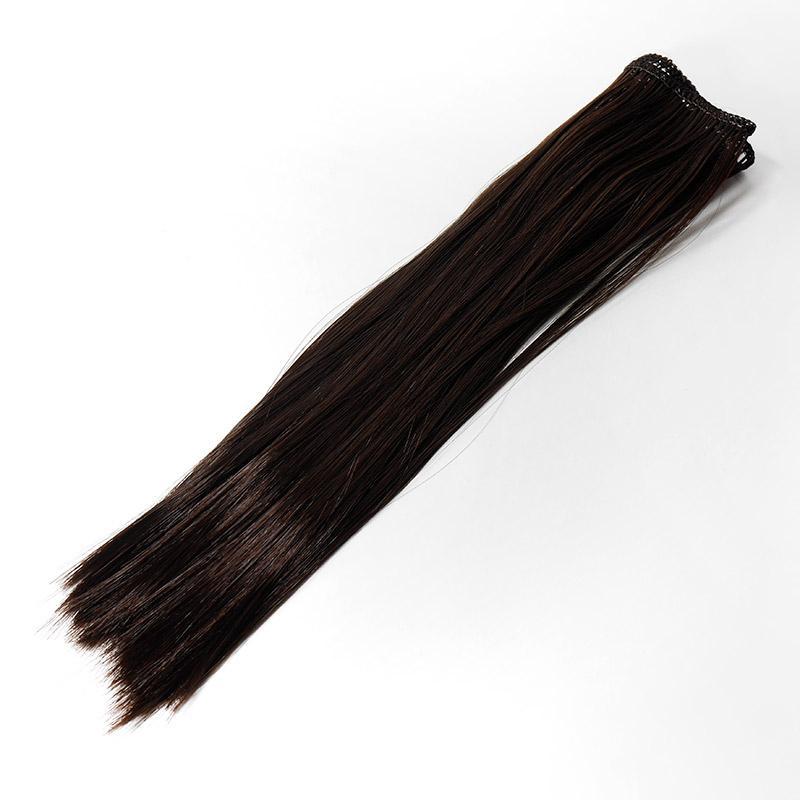 Волосы прямые трессы h25-28см, L47-50см, т.шоколадный