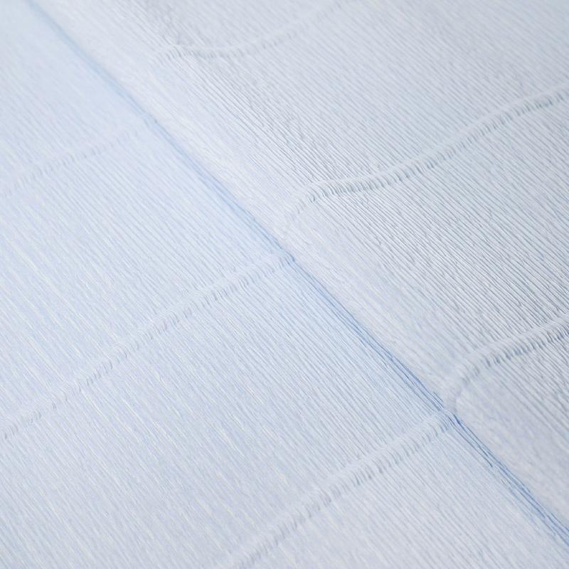 Бумага гофрированная 50см 2,5м 140г/м2 Италия 959 нежно-голубой